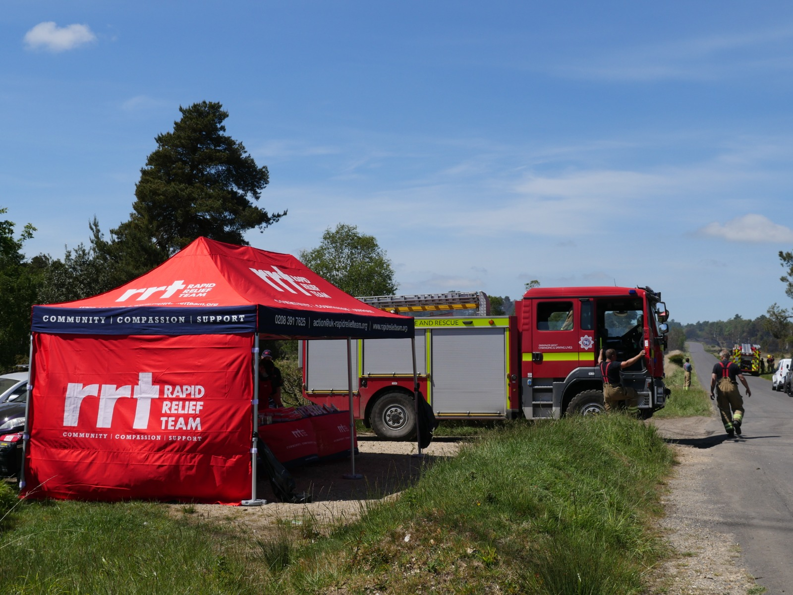 RRT Supports Firefighters at Wareham Forest Fire