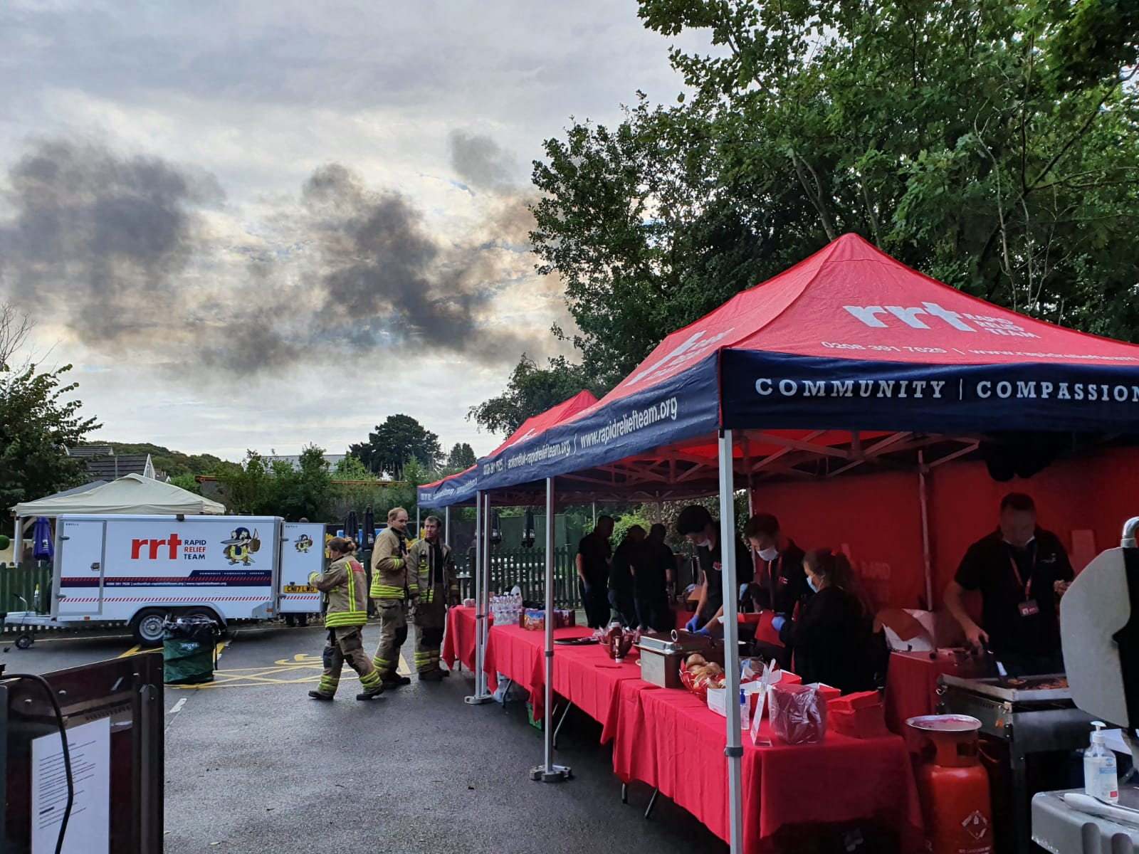 RRT supports the Emergency Services at the Llangennech Diesel Train Fire
